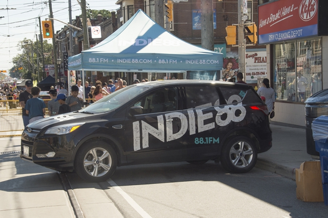 Indie88 Promotional Vehicle at Roncesvalles Polish Festival